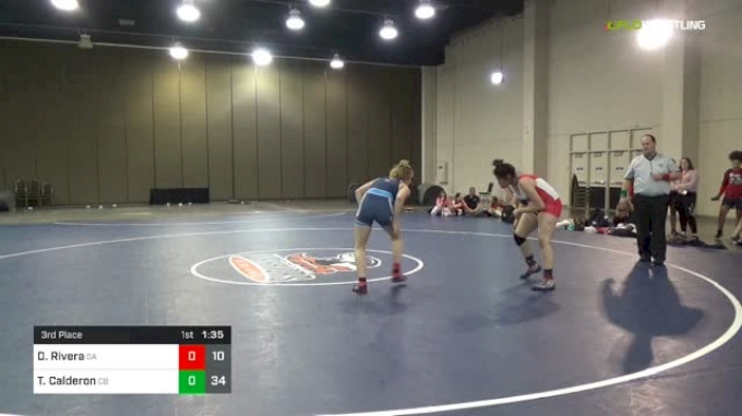 152 lbs 3rd Place - Destinee Rivera, Georgia vs Tiffany Calderon, California Blue