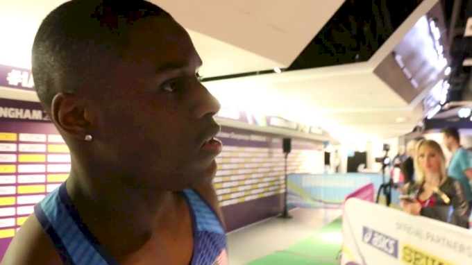 Christian Coleman Thinks The Birmingham Track Is Fast