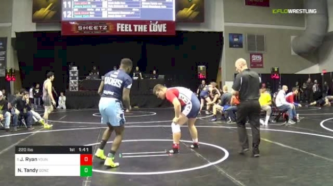 220 lbs Round Of 16 - Jake Ryan, Young Guns Wrestling Club vs Noah Tandy, Gonzo Trainer Of Champions
