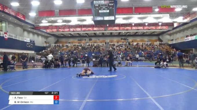 143 lbs Quarterfinal - Alexia Foca, Campbellsville University W vs Brittany Woods-Orrison, Menlo College