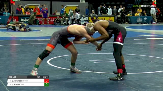 125 lbs Quarterfinal - Gabe Townsell, Stanford vs Louie Hayes, Virginia
