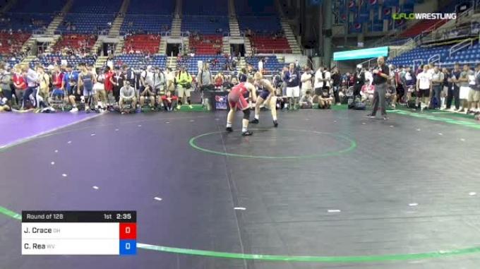 138 lbs Round Of 128 - Jordan Crace, Ohio vs Caleb Rea, West Virginia