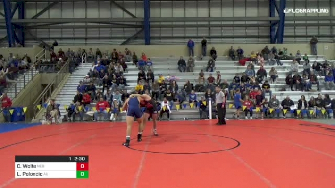 184lbs 5th Place: Colton Wolfe (Nebraska) vs Lukas Poloncic (Augustana)