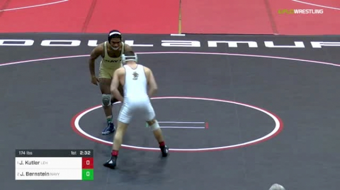 174 lbs Final - Jordan Kutler, Lehigh vs Jadaen Bernstein, Navy