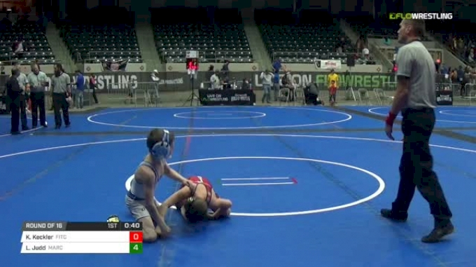64 lbs Round of 16 - Kaleb Keckler, Fitchburg Youth Wrestling vs Lucas Judd, MarcAurele