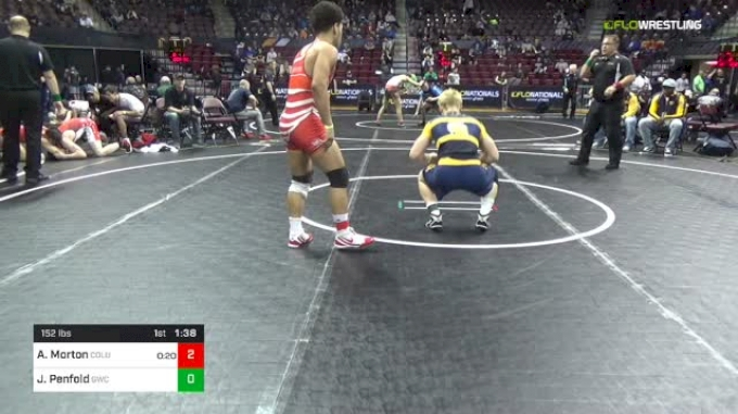 152 lbs Round Of 64 - Aaron Morton, Columbus Wrestling Club vs James Penfold, Goodrich Wrestling