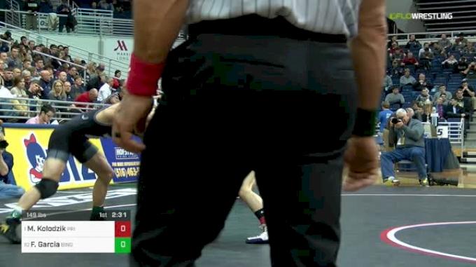 149 lbs Final - Matt Kolodzik, Princeton vs Frank Garcia, Binghamton