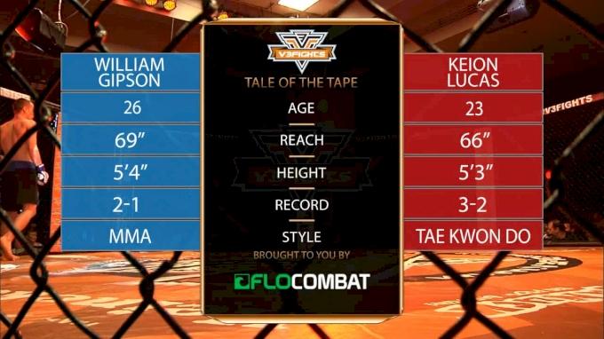 Keion Lucas vs. William Gipson - V3Fights 70 Replay