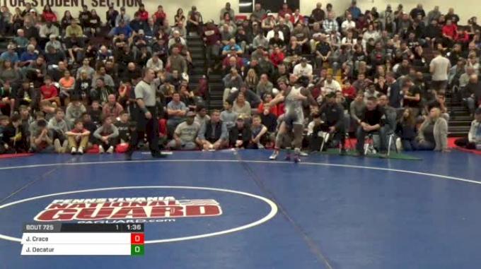 126lbs Semis: Jordan Crace, St. Paris Graham vs Jordan Decatur, CVCA