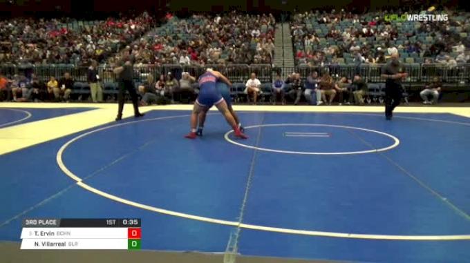 220 lbs 3rd place - Trevor Ervin, Buchanan vs Nick Villarreal, Gilroy