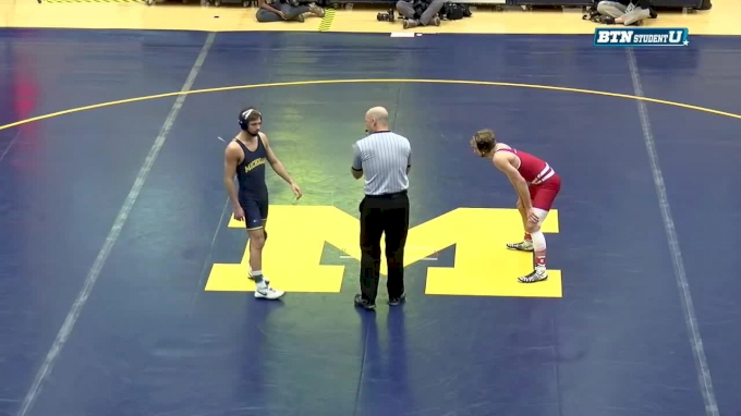 133 lbs, Jens Lantz, Wisconsin vs #6 Stevan Micic, Michigan