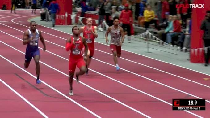 Men's 200m, Round 2 Heat 2 - NCAA Leader Divine Oduduru