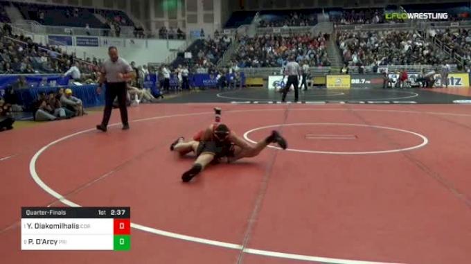 141 lbs Quarterfinal - Yianni Diakomilhalis, Cornell vs Pat D'Arcy, Princeton