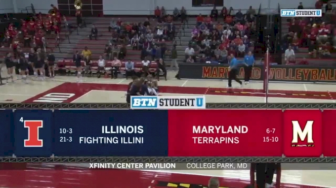 2018 Illinois vs Maryland | Big Ten Women's Volleyball