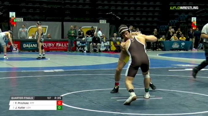 174 lbs Quarterfinal - Forest Przybysz, Appalachian State vs Jordan Kutler, Lehigh