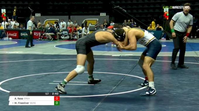 174 lbs Round of 16 - Austin Rose, Drexel vs Matt Finesilver, Duke