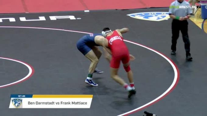 197 lbs Final - Ben Darmstadt, Cornell vs Frank Mattiace, Penn