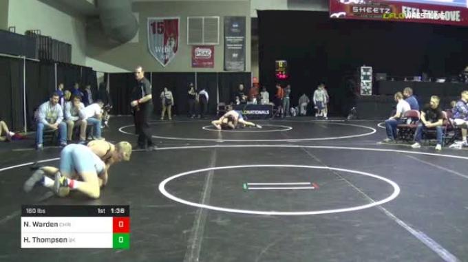 160 lbs Round Of 64 - Nathan Warden, Christiansburg vs Hunter Thompson, Bad Karma
