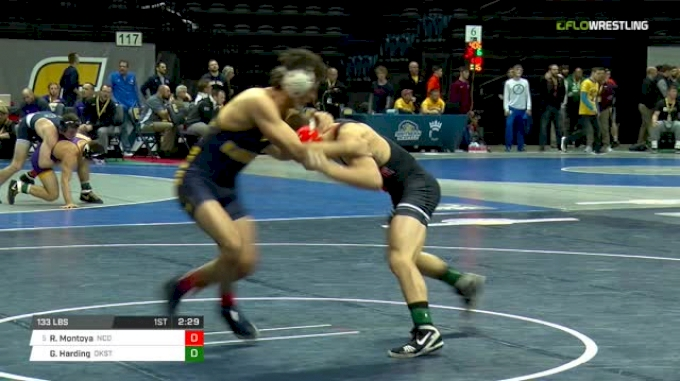 133 lbs Quarterfinal - Rico Montoya, N. Colorado vs Gary Wayne Harding, Oklahoma State