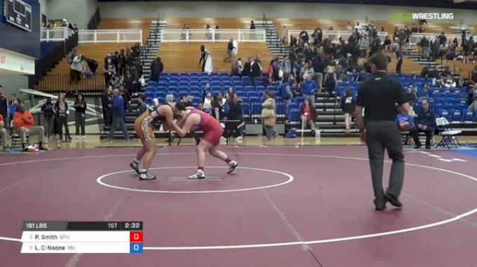 191 lbs Semifinal - Payten Smith, Simon Fraser University vs Leilani Camargo-Naone, Midland University