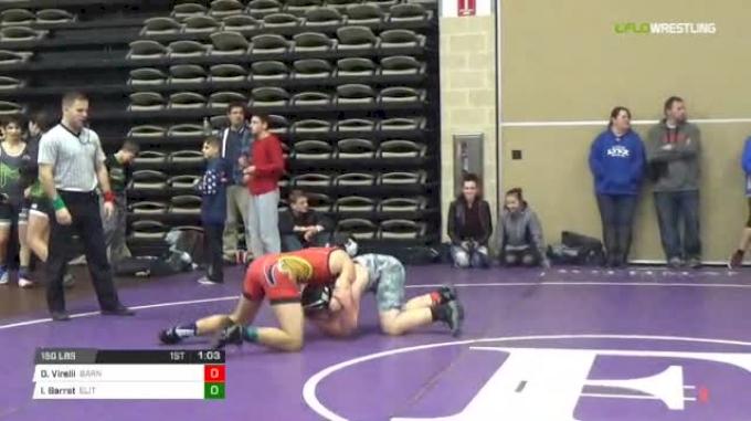 150 lbs Rr rnd 5 - Dennis Virelli, Barn Beasts Ms vs Isaacc Barret, Elite NJ Black MS