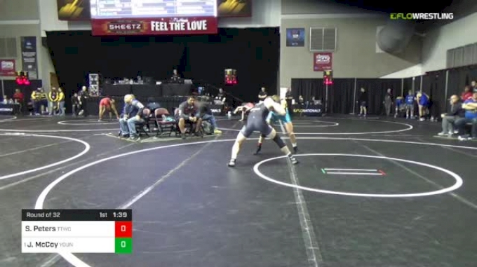 152 lbs Round Of 32 - Justin McCoy, Young Guns Wrestling Club vs Sam Peters, TTWC