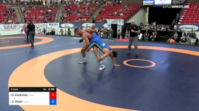 97 kg Final - Daniel Kerkvliet, Pinnacle(MN) vs Zach Elam, Team Central WC