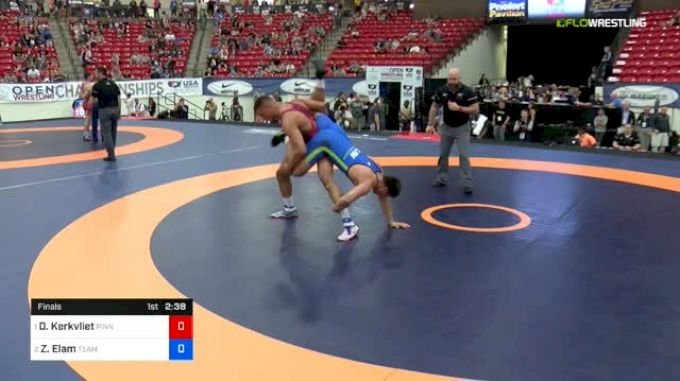 97 kg Final - Daniel Kerkvliet, Pinnacle(MN) vs Zach Elam, Team Central WC