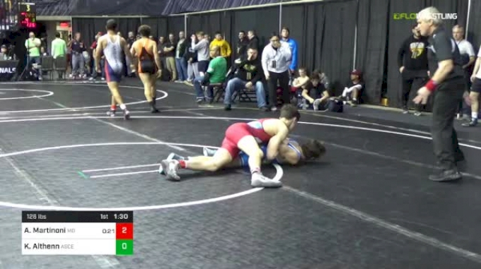 126 lbs Round Of 16 - Angelo Martinoni, Mad Dawg Wrestling Club vs Kyle Althenn, Ascend Wrestling