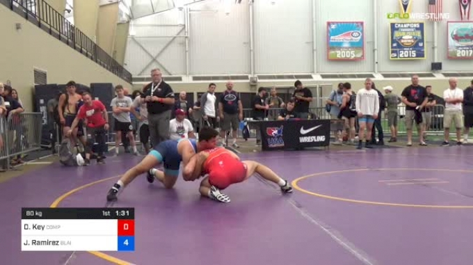 80 kg Round Of 16 - David Key, Compound vs Julian Ramirez, Blair