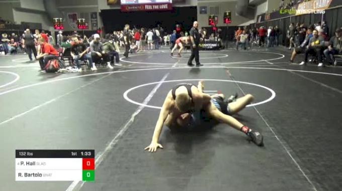 132 lbs Round Of 16 - Peyton Hall, Gladiators vs Rocco Bartolo, Unattached
