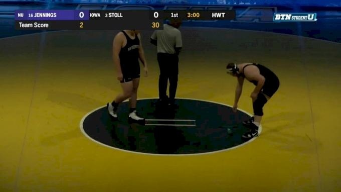 285 lbs m, Conan Jennings, Northwestern vs Sam Stoll, Iowa