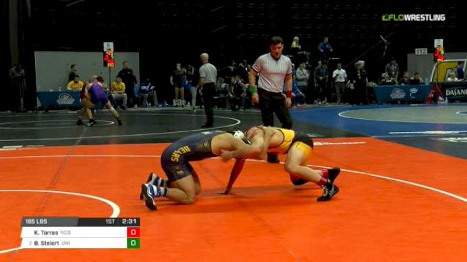 165 lbs Quarterfinal - Bryce Steiert, Northern Iowa vs Keilan Torres, N. Colorado