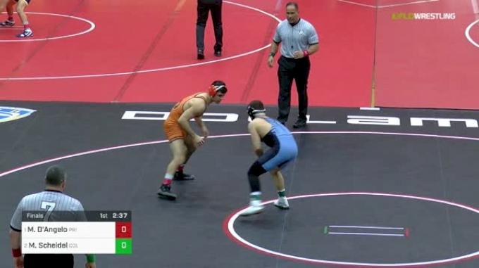 157 lbs Final - Mike D'Angelo, Princeton vs Markus Scheidel, Columbia