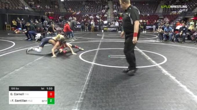 126 lbs Round Of 16 - Garrett Cornell, TYW vs Fabian Santillan, Mile High Wrestling Club Colorado