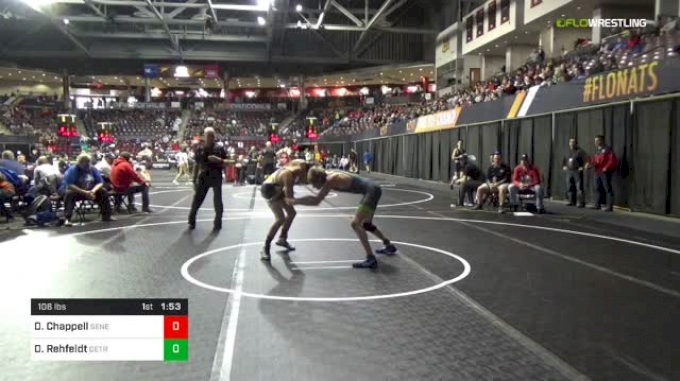 106 lbs Round Of 64 - Dylan Chappell, Seneca Valley vs Daniel Rehfeldt, Detroit Catholic Central