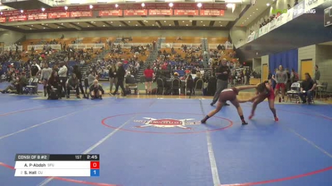 130 lbs Consi of 8 #2 - Aliosha Perriard-Abdoh, Simon Fraser University vs Shelby Hall, Campbellsville University W