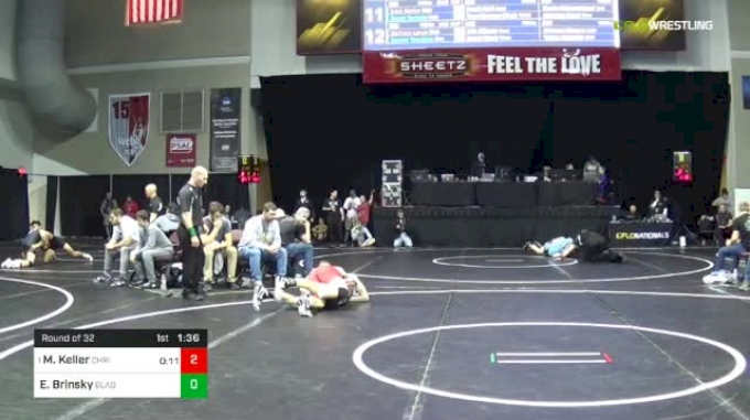 138 lbs Round Of 32 - Marshall Keller, Christiansburg vs Eli Brinsky, Gladiators