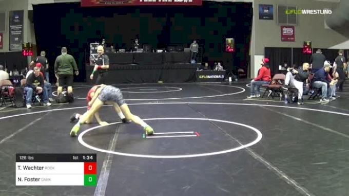 126 lbs Round Of 64 - Trenton Wachter, Rockford High School vs Nick Foster, Dark Knights Wrestling Club