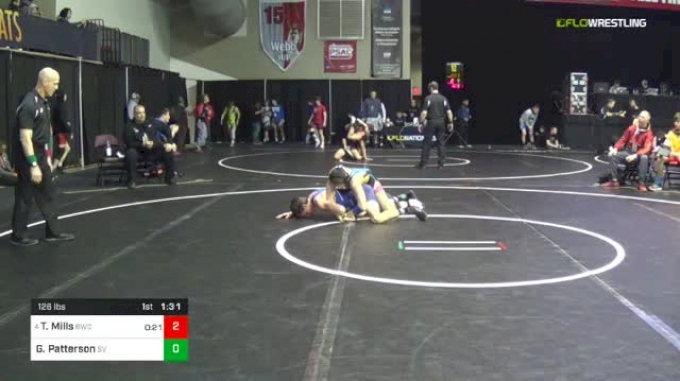 126 lbs Round Of 32 - Ty Mills, Brownsburg Wrestling Club vs Gavin Patterson, Star Valley (SV)