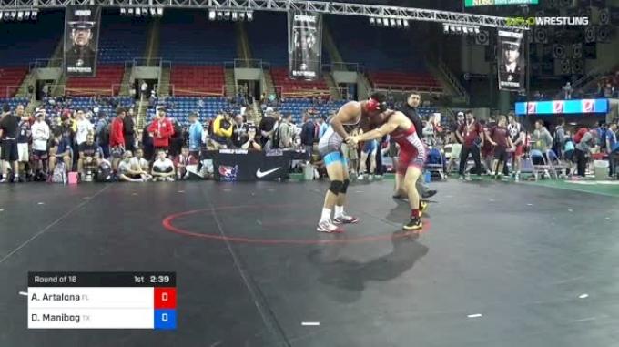145 lbs Round Of 16 - Anthony Artalona, Florida vs Daniel Manibog, Texas