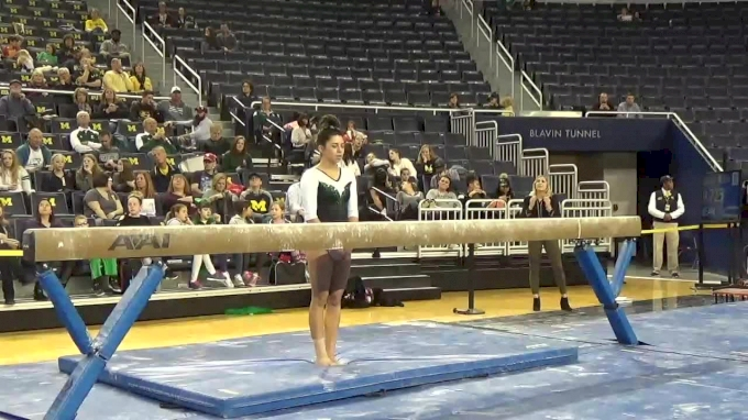 Kendall Valentin- Beam (9.8), EMU- 2017 Michigan vs. EMU Intersquad