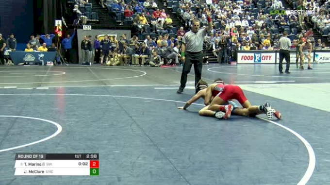 157 lbs Round of 16 - Tyler Marinelli, Gardner Webb vs Josh McClure, North Carolina
