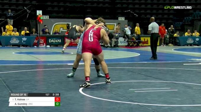285 lbs Round of 16 - Thomas Haines, Lock Haven vs Andrew Gunning, North Carolina