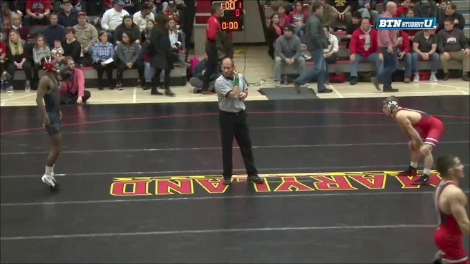 133 m, Luke Pletcher, Ohio State vs Jhared Simmons, Maryland
