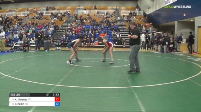 123 lbs Consi of 8 #2 - Kellyann Jimenez, University Of The Cumberlands vs Briana Kellin, King University W