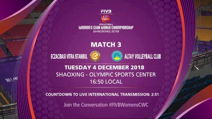 Eczacibasi Vitra Istanbul vs Altay Volleyball Club | 2018 FIVB Womens Club World Championships