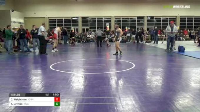 175 lbs Rr rnd 5 - Cole Weightman, Young Guns Power MS vs Alexander Uryniak, Yale Street Wrestling Club MS