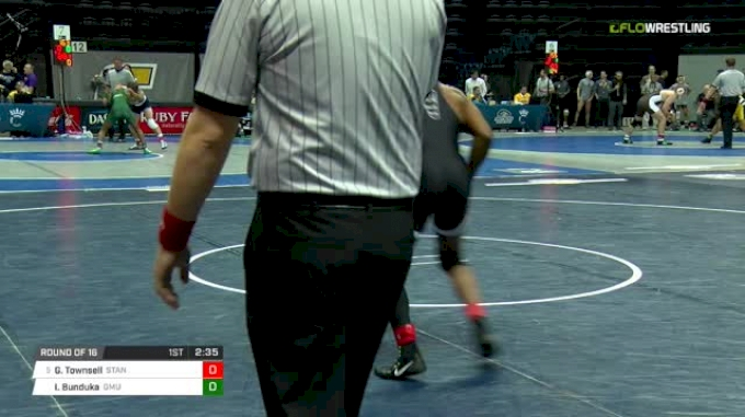 125 lbs Round of 16 - Gabe Townsell, Stanford vs Ibrahim Bunduka, George Mason