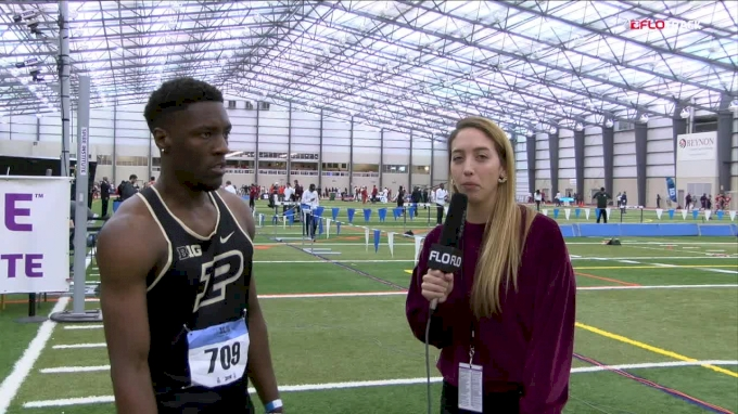 Waseem Williams Of Purdue Wins The 60 And Ties Facility Record In His First Big 10 Indoor Championship